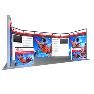Modular Backlit Exhibition Stands