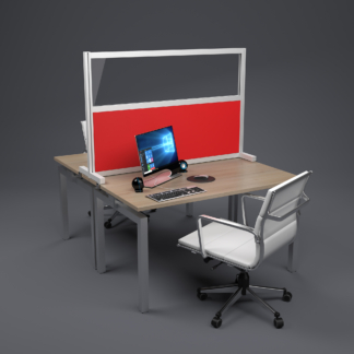 Acoustic office desk top screen