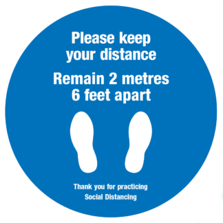 Social distancing floor sticker - 2m apart