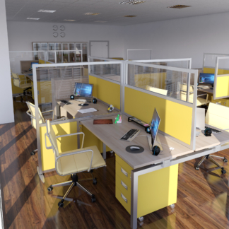 Acoustic office partitions