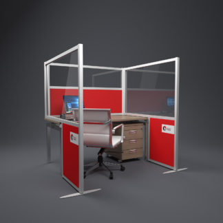 up and over booth sound absorbing office screen