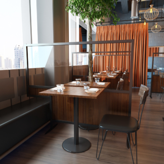 Banquette restaurant screen